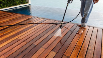 pressure washing deck patio home